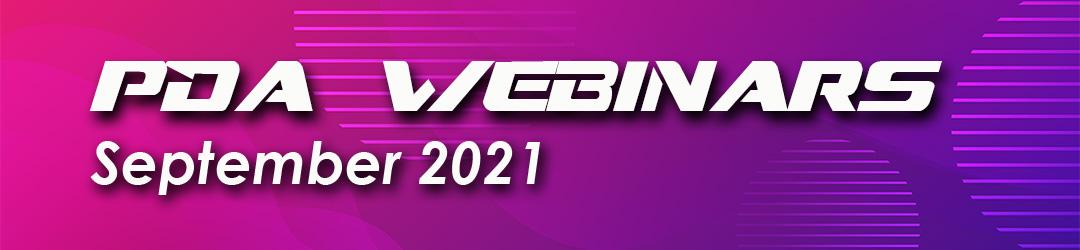 PDA webinars September 2021